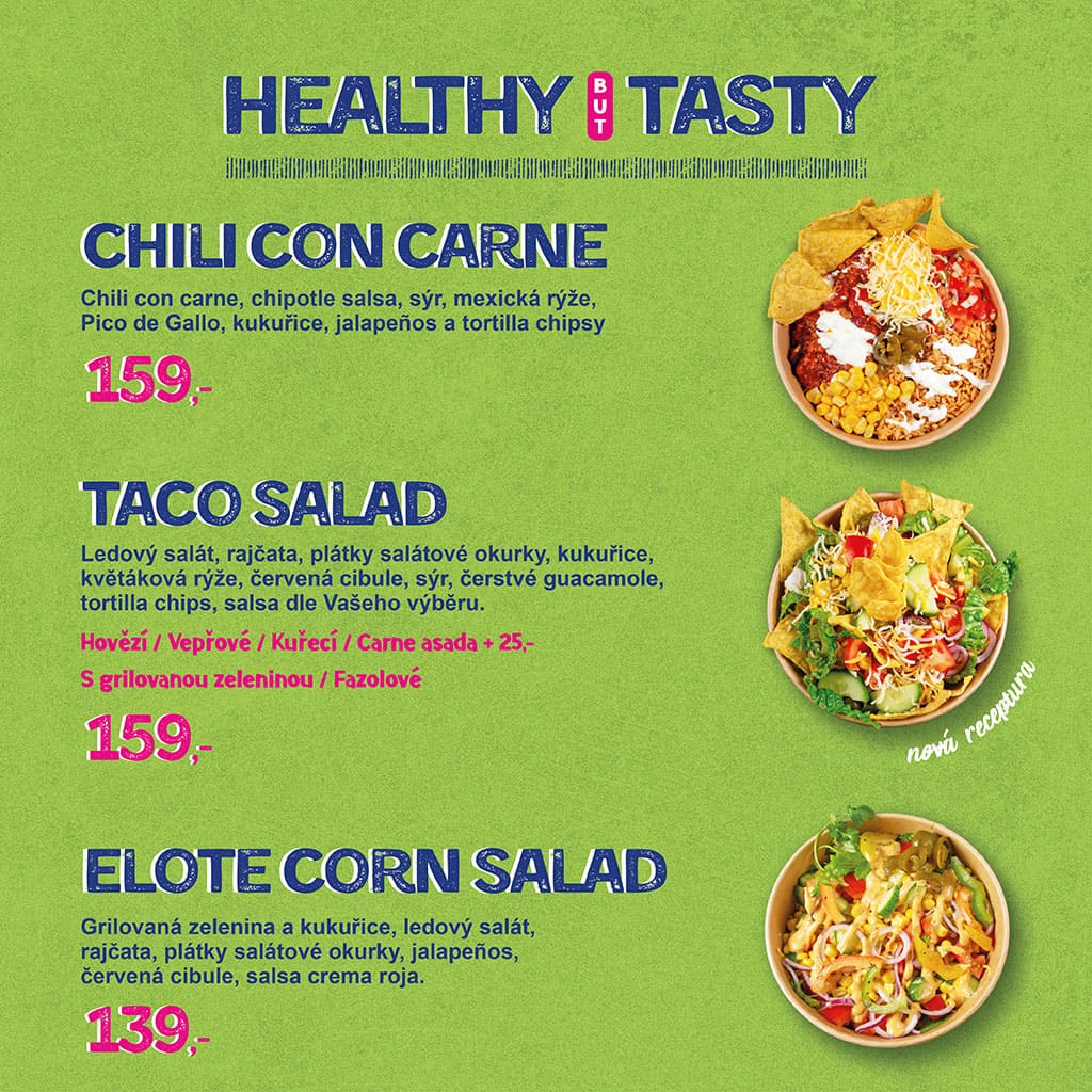 <H1> Máš chuť na něco lehčího, zdravějšího, ale nechceš ubírat na plnohodnotné chuti ? Healthy but tasty sekce je přesně to, co hledáš.